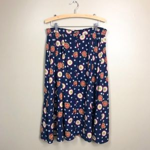 Pendleton Vintage Nautical Button Up Midi Skirt
